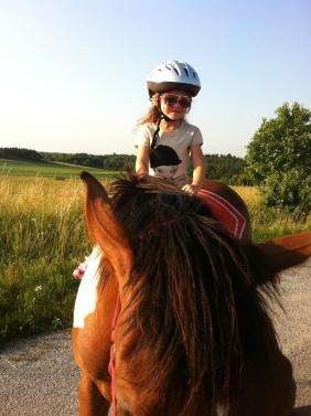 Me riding Tango in Vraz, Czech Republic