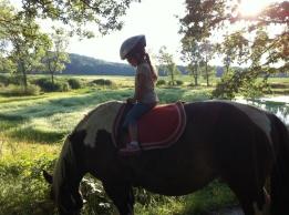 Me riding Tango in the Czech Republic